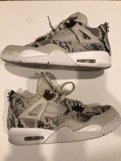 226af380e0b7 Air Jordan 4 premium Snakeskin size 10.5 Used  fashion  clothing  shoes   accessories