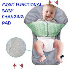 Only baby changing pad that work!!! Cute little hands don't belong in dirty diapers! A changing pad with a patent-pending barrier that keeps your child's hands out of the mess. This All-in-One diaper changing solution provides all the benefits of a standard portable changing mat and diaper clutch plus a patent pending adjustable redirection barrier to hang toy<br> Baby Changing Mat, Changing Pad, Baby Must Haves, Baby Boys, Fun Baby, Gripe Water, Baby Car Mirror, Diaper Clutch, Diaper Bags
