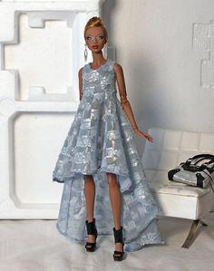 SB blue hi low dress