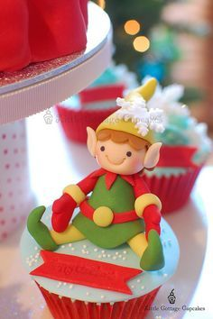 Christmas cupcakes                                                                                                                                                                                                                                                                                                                                                                                                                                                    by Little Cottage Cupcakes