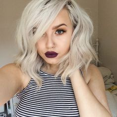 platinum short hair