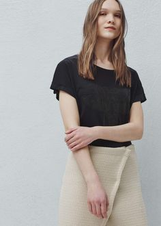 Camiseta estampado - Camisetas de Mujer | MANGO España