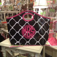This bag looks great with a vinyl monogram!