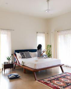 Home Room Design, Bed Design, Home Interior Design, Home Decor Furniture, Home Decor Bedroom, Furniture Design, Cosy Interior, Apartment Interior, India Home Decor