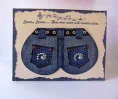 Jeans Punch Art Birthday Card