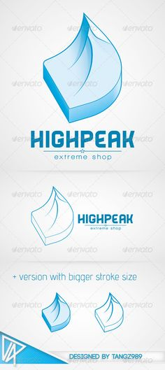 Highpeak Logo  #GraphicRiver        Features    Well organised and named layers & objects   All texts are editable   Links to download the 2 free fonts included  What you get    Adobe Illustrator file (.ai)   Adobe Photoshop file (.psd)   Encapsulated PostScript file (.eps)   High resolution transparent PNGs of the logo without text, so you can add your company name without needing Photoshop or Illustrator!   If you purchase my design, I would love to know where do you use it, so feel free…