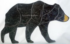 Bring the beauty of wild life art into your home with our stained glass black bear window sun catcher Our black bear window sun catcher is the perfect item for