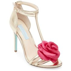1797a4ff3df Blue By Betsey Johnson Emme Flower T-Strap Sandal ( 109) ❤ liked on