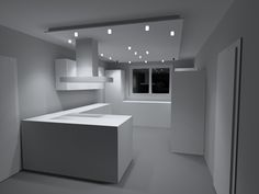 lisego deckensegel lisegowave 400cm x 80cm, indirekte beleuchtung ... - Led Design Wohnzimmer
