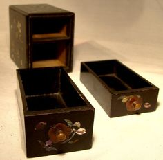 Items similar to Antique Japanese Black Lacquer 2 Drawer Miniature Chest on Etsy This Is Us Quotes, Vintage Box, Decorative Items, Antique Jewelry, Drawers, Miniatures, Japanese, Antiques, Etsy