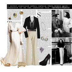 Katharine Hepburn, created by thepennylope on Polyvore