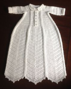 Traditional Christening gown with a masculine touch.
