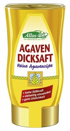 ALLOS bio syrop słodzący AGAWA 250ml ekosklepkrainazdrowia.pl Mustard, Bottle, Food, Agaves, Juice, Flask, Essen, Mustard Plant, Meals