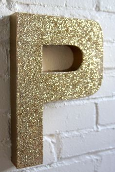 how to make a sparkly, glitter-covered monogram
