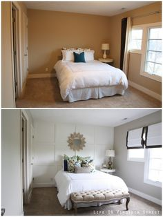 Fabulous Useful Tips: Small Bedroom Remodel House Plans guest bedroom remodel night stands.Bedroom Remodeling On A Budget Shelves small bedroom remodel house plans. Home Staging, Home Bedroom, Diy Bedroom Decor, Home Decor, Bedroom Ideas, Bedroom Designs, Bedroom Makeovers, Bedroom Furniture, Decor Room