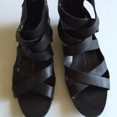 DV By dolce Vita gladiator sandals Slight heel with cute silver detailed zipper in the back. Very comfortable soft leather material. DV by Dolce Vita Shoes Sandals
