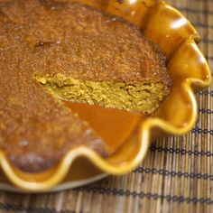 Vegan pumpkin pie - I would add a crust - comments said you can reduce the maple syrup to 1/2cup - will try for Fall :)