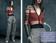 Textile and Pattern Details at Alexander Wang   The Cutting Class. Alexander Wang, PF15, Image 3. Slight sheer gathering appears to be almost like loose shirring.