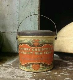 Early Old 1900 Antique RARE Lithograph Christmas Candy Tin AAFA | eBay