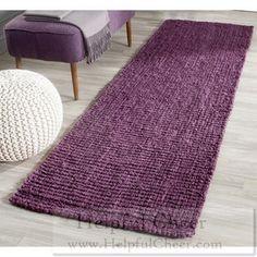 Safavieh Hand-woven Natural Fiber Purple Jute Rug 2 x27 6 x 6 x27 Free shipping at - 015