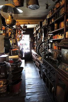 Behind the counter in a 19th-century general store