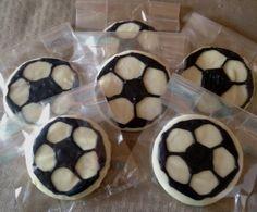 Soccer Ball Sugar Cookies - Sugar Cookies with Chocolate Coating
