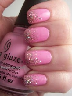 Fingerspainted: China Glaze- Dance Baby with Sally hansen strobe light....