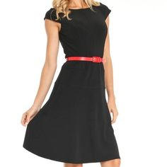Anne Klein Black Dress 4 Black Annie Klein dress size 4. I'm pretty positive that the dress in the stock image is the same one: same length, same lines, but no belt. Anne Klein Dresses