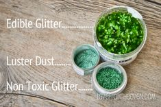 Differences Between Non Toxic Glitter, also called Disco Dust & Pixie Dust, and Edible Glitter at Love From The Oven Frosting Recipes, Cupcake Recipes, Cupcakes, Cupcake Cakes, Cookie Decorating, Decorating Tips, Glitter Cake, Glittery Nails, Glitter Lips