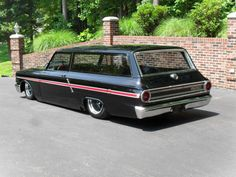 Custom built 1964 Ford Fairlane 2dr Wagon.. - only Falcons came in 2dr wagons in '64. Cool cool cool.