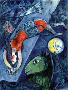 le cirque bleu- Chagall