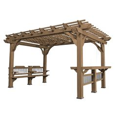 Eden New England Arbors W x L x White Plastic Freestanding Pergola at Lowe's. Add charm and cordiality to your outdoor living space with the Venetian Pergola. A sanctuary for you, your family, and your friends, this 10 x 10 Pergola