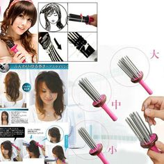 Curly Hair Roller + Perfect tool to make curly hair. + Use with hair dryer to make beautiful curly hair + Adjustable sizes of curly hair by adding or removing the strokes + Light weight, ideal to bring when travelling + Patterns on strokes, produce rich volume of hair. HKD 30/pc Hair Roller, The Strokes, Hair Dryer, Travelling, Curly Hair Styles, Personalized Items, Patterns, How To Make, Beauty