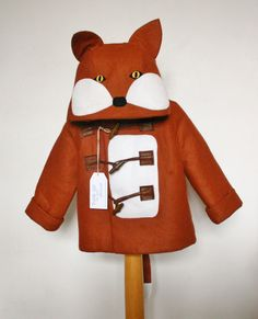 Childrens and Babies Fox Winter Felt Duffle Coat by MeAndMyDress, $69.50