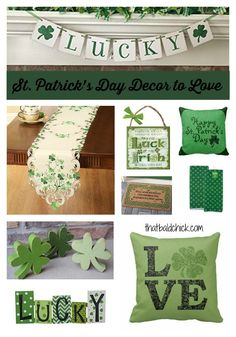 St Patricks Day Decor to love at thatbaldchick.com