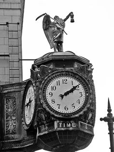 """""""Old Time Clock""""  Click the """"pinned from"""" link to purchase this print."""