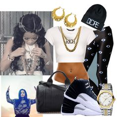 """""""You say you a gangsta, that don't impress me nun..."""" by deathbydesigner ❤ liked on Polyvore"""
