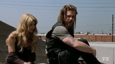 "Opie and Lyla. Even though this is a very emotional and serious scene, i can't help but think ""DAYYUMMM look at Opie's arms!!"""