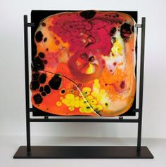 This fantastic art object can decorate your room and add an element of mysterious impression: looking at the combination of red-yellow-black colors you may imagine various pictures. The exact impression depends on you, on your friends, on the daytime, a season, etc.