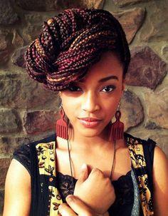 Coiffure afro tresses nattes hiver 2015 - Coiffures afro : les filles stylées donnent le ton - Elle