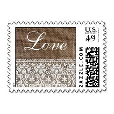 Simple Burlap and Lace Stamps