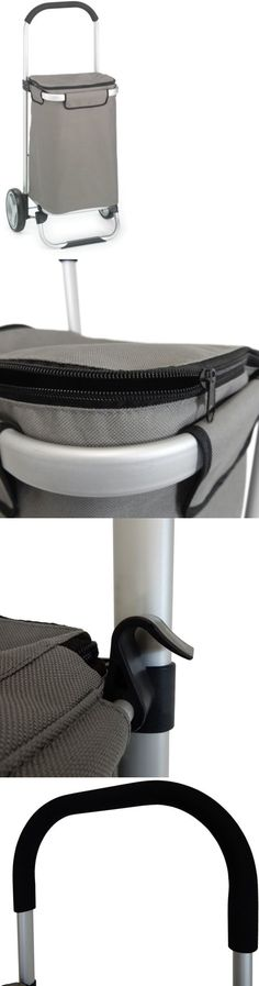 Reusable Eco Bags 169302: Homz Euro Shopping Tote Cart W Fabric Bag, Foldable, Aluminum Frame -> BUY IT NOW ONLY: $35.01 on eBay!