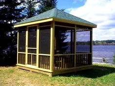 I would love to have a screened gazebo down near the water, with ceiling fans, and music capability, of course!