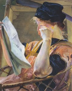 The Model - Jacek Malczewski  •  The Malczewski oeuvre is the most vivid example of an intermingling of folk motifs and an anti-classical, Dionysian vision of antiquity, typical for Polish modernism; he placed chimeras and fauns in a Polish landscape within an historical-national context.