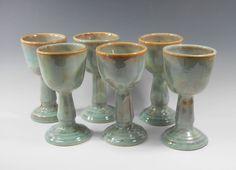 Handmade pottery goblet or communion chalice by TamarackStoneware