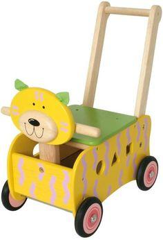I´M Toy, Rutschfahrzeug aus Holz, Schiebewagen Katze, Lauflernwagen aus Holz | 1158 / EAN:08850714871500