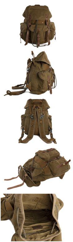 Canvas Backpack, School Backpack, Rucksack