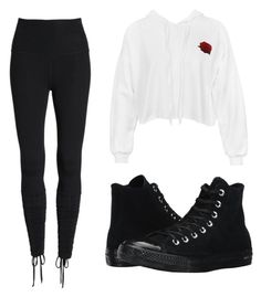 """•••"" by jessie-j-19 on Polyvore featuring Beyond Yoga, Sans Souci and Converse"