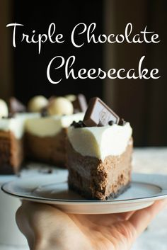 A baJillian Recipes | Triple Chocolate Cheesecake | http://www.abajillianrecipes.com