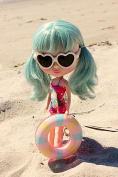 Blythe in the beach